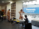 Nude body painters in action 20