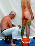 Nude body painters in action 34